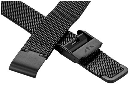 Bransoleta stalowa do zegarka 16 mm Bisset BM-101/16 Black