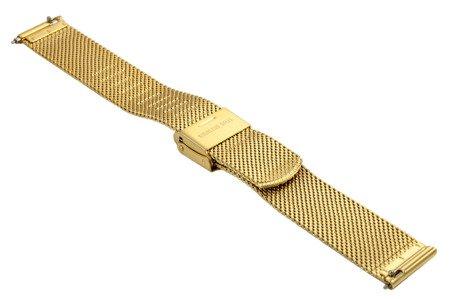 Bransoleta stalowa do zegarka 16 mm Bisset BM-105/16 Gold