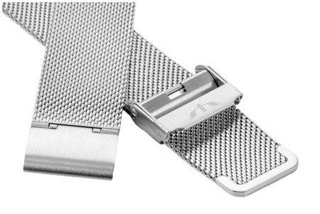 Bransoleta stalowa do zegarka 18 mm Bisset BM-101/18 Silver
