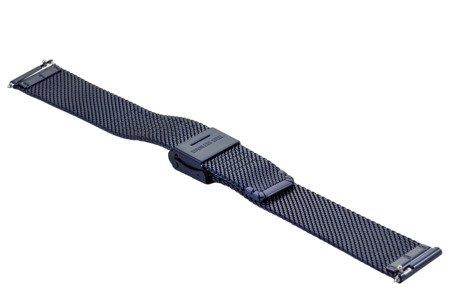 Bransoleta stalowa do zegarka 18 mm Bisset BM-104/18 Blue