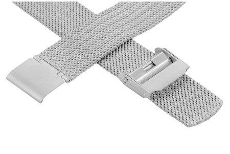 Bransoleta stalowa do zegarka 18 mm Bisset BM-105/18 Silver Mat