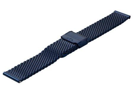 Bransoleta stalowa do zegarka 20 mm Bisset BM-102/20 Blue