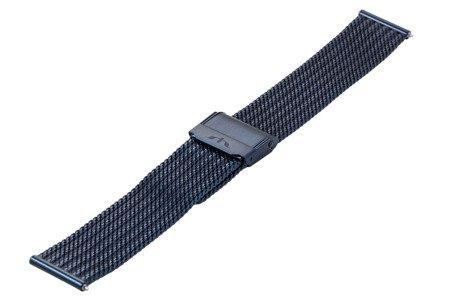 Bransoleta stalowa do zegarka 20 mm Bisset BM-105/20 Blue