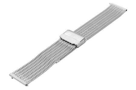 Bransoleta stalowa do zegarka 20 mm Bisset BM-105/20 Silver