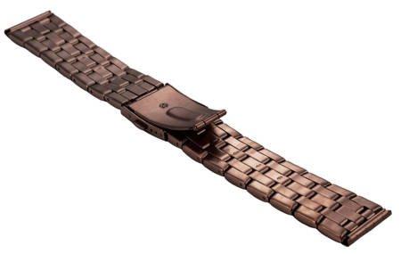 Bransoleta stalowa do zegarka 22 mm BR-111.22 Brown