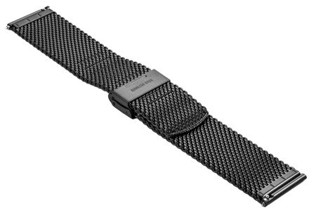 Bransoleta stalowa do zegarka 22 mm Bisset BM-102/22 Black