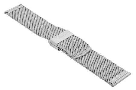 Bransoleta stalowa do zegarka 22 mm Bisset BM-102/22 Silver Mat