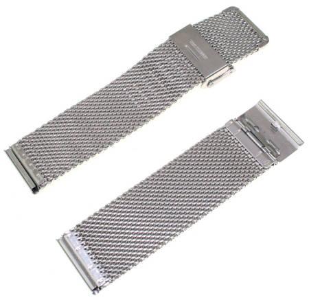Bransoleta stalowa do zegarka 24 mm Tekla BG1.24 Silver