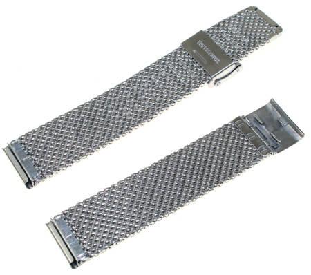 Bransoleta stalowa do zegarka Diloy MESH10-18-0 18 mm