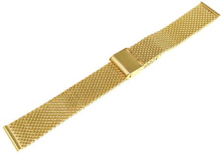 Bransoleta stalowa do zegarka Diloy MESH10-18-G 18 mm