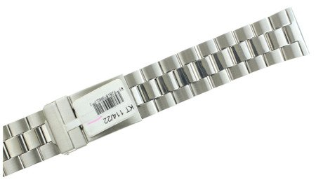 Bransoleta stalowa do zegarka JVD KT 114-22 22 mm