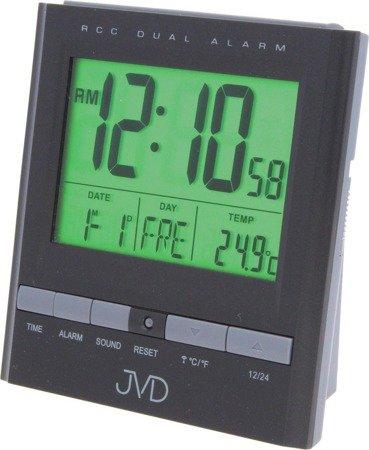 Budzik JVD RB92.2 Termometr, dwa alarmy, DCF77