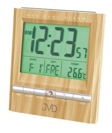 Budzik JVD RB92.4 Termometr, dwa alarmy, DCF77