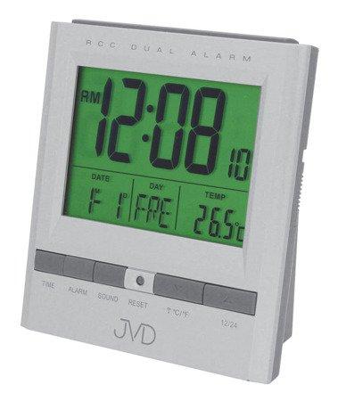 Budzik JVD RB92.5 Termometr, dwa alarmy, DCF77