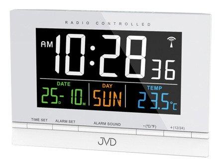 Budzik JVD RB9302.1 Termometr DCF77 Dwa Alarmy