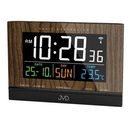 Budzik JVD RB9302.2 Termometr DCF77 Dwa Alarmy