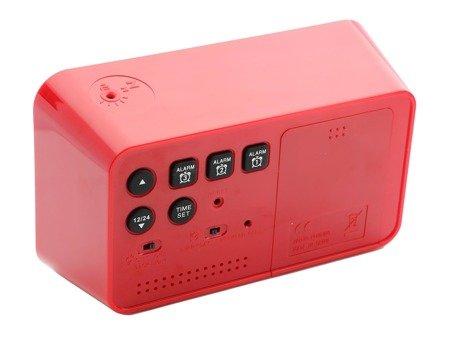 Budzik JVD SB130.1 Termometr, Sensor Light, 3 alarmy