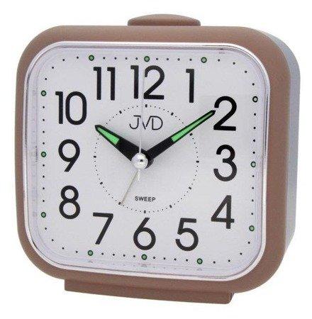 Budzik JVD SRP1309.1 Bell Alarm, cichy mechanizm