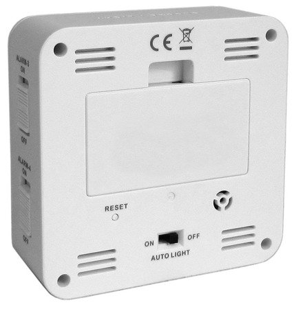 Budzik LAVVU LAR0010 Termometr Sensor Light 4 alarmy DCF77