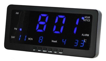 Budzik, zegar ścienny MPM C02.3568.90 8 alarmów