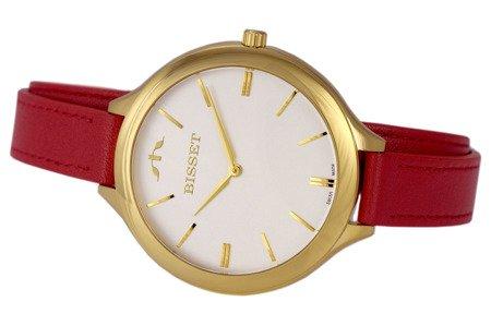 Damski klasyczny zegarek BISSET BSAE20 GISX 03BX Długi pasek