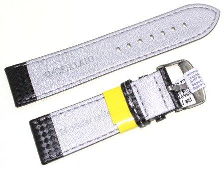 Karbonowy wodoodporny pasek do zegarka 24 mm Morellato A01U3586977891CR24