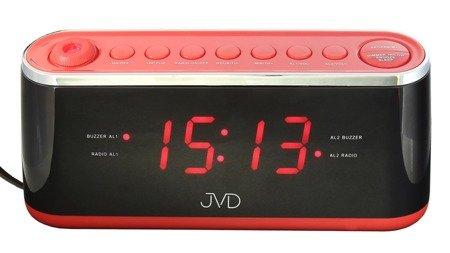 Zegar JVD SB97.1 z projekcją, Radio FM, 2 alarmy