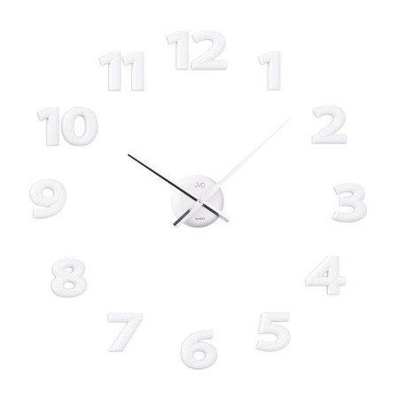 Zegar ścienny JVD HB12.2 naklejany na ścianę, szybę...White