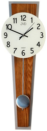 Zegar ścienny JVD NS17020.11 drewniany z wahadłem