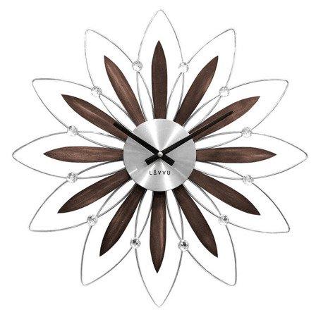 Zegar ścienny LAVVU LCT1110 z kryształkami, średnica 49,5 cm