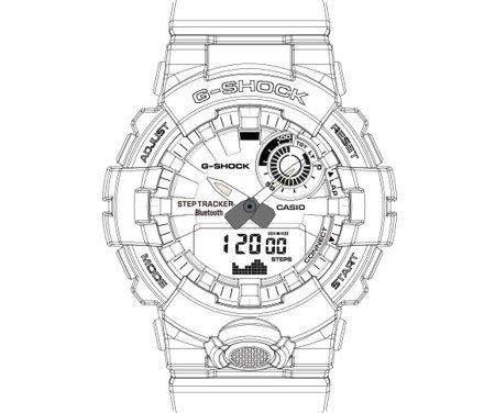Zegarek Casio G-Shock G-SQUAD GBA-800UC-5AER Step Tracker