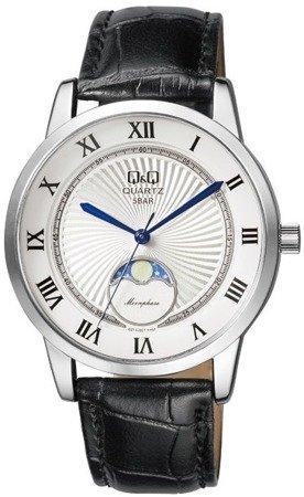 Zegarek z fazami księżyca Q&Q QZ10-307 Klasyczny
