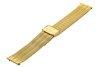 Bransoleta stalowa do zegarka 16 mm Bisset BM-103/16 Gold