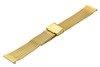 Bransoleta stalowa do zegarka 18 mm Bisset BM-104/18 Gold