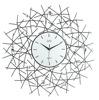 Zegar ścienny JVD HJ30 z kryształkami średnica 59 cm