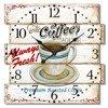 Zegar ścienny JVD NB13 40x40 cm Retro do salonu, kawiarni